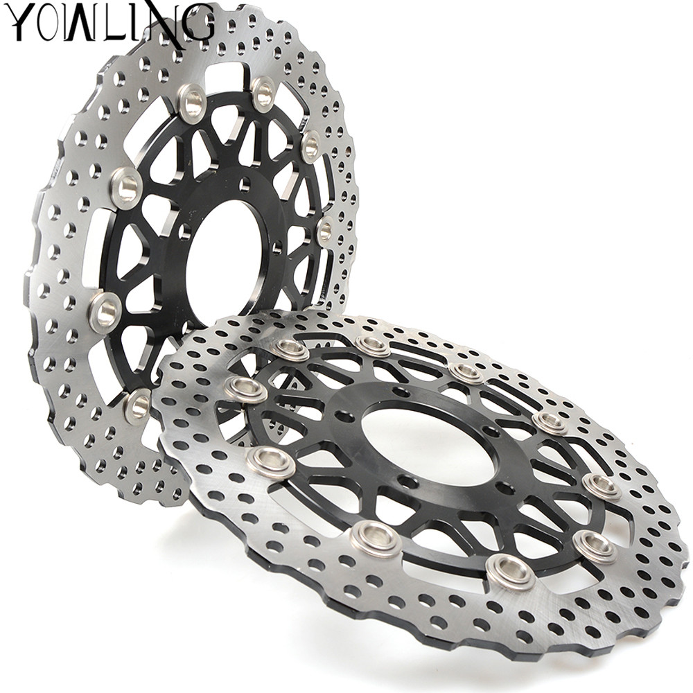 One Pair High quality CNC Floating Front Brake Disc Rotors For KAWASAKI ZX10R ABS ZX-10R ZX 10R 1000CC model year 2011 2012 2013