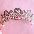 HG240 Tiara de pérolas de Noiva, mulheres Crown Jóia Do Casamento Acessório Nupcial Do Partido do baile de Finalistas, tiara de noiva casamento acessórios para o cabelo
