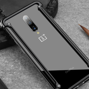 Image 4 - OATSBASF luxury Airbag Metal Case  For Oneplus 7t Case Personality Airbag Shell Metal Bumper Cover For Oneplus 7t pro
