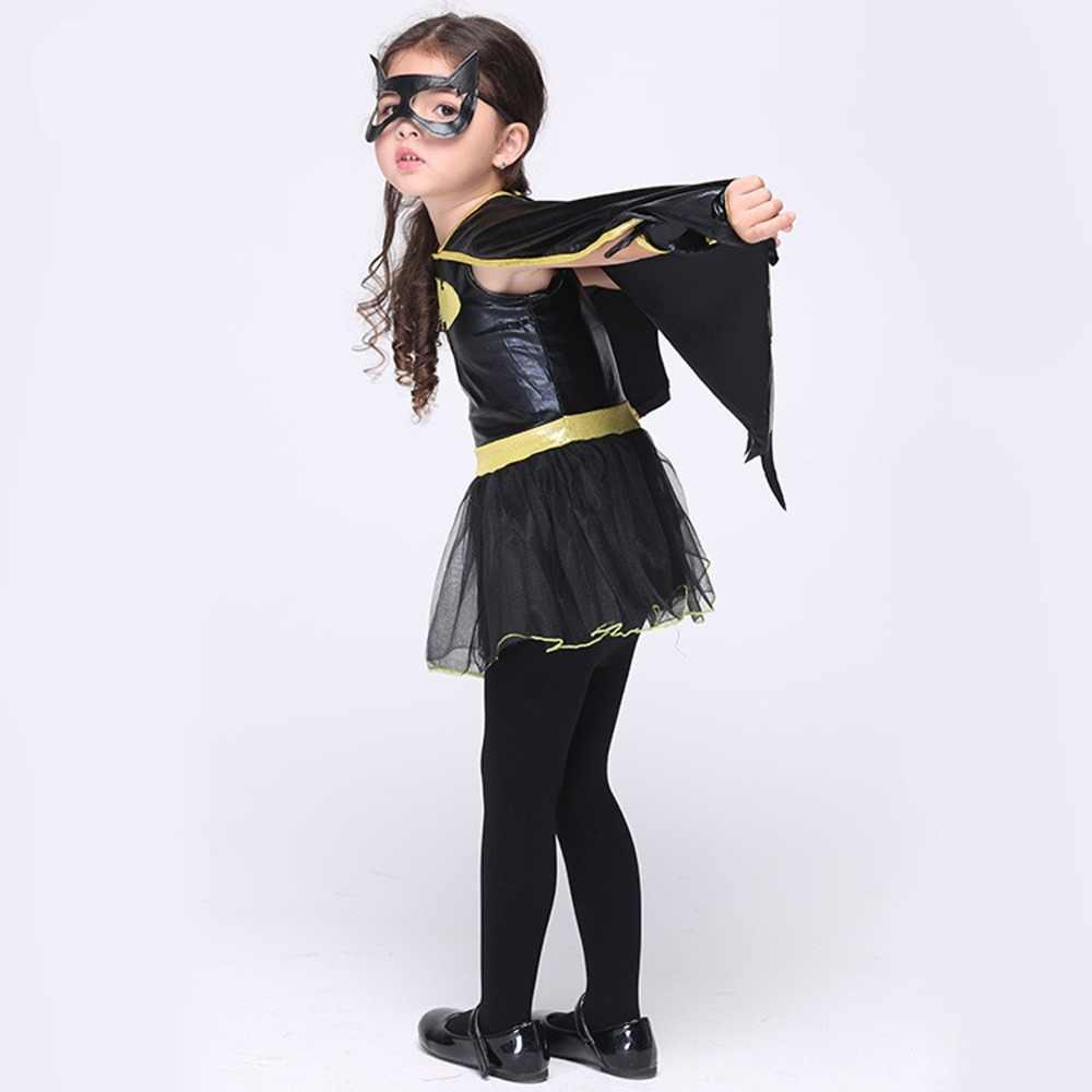 子動物コスプレかわいいバット衣装子供ハロウィン衣装黒ジャンプスーツ接続羽コスプレバットマン