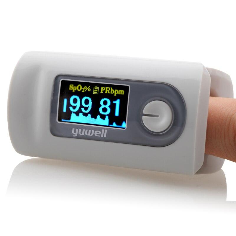 Yuwell Пульсоксиметр Пальчиковый пульсоксиметрический детектор Портативный ЖК-дисплей монитор крови oximetro de dedo медицинское оборудование