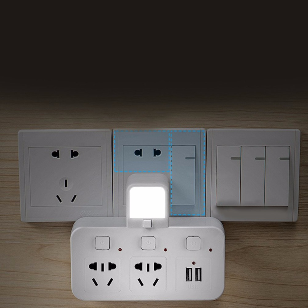 Multifunctional power adapter socket bedside bedroom nightlight multifunctional power adapter socket bedside bedroom nightlight switch usb lightningproof wall outlet charge adapter in led night lights from lights aloadofball Images