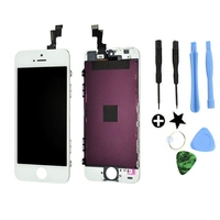 Wit lcd-scherm + touch screen digitizer vergadering vervanging voor iphone 5 s oem hot koop