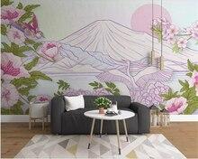 Купить с кэшбэком Beibehang Custom wallpaper European Retro Abstract Flower crane landscape sofa TV mural background 3D wallpaper papier peint