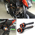 For KAWASAKI Z250 ABS 2013-2015 Orange New Design Motorcycle Frame Sliders Crash Protector Falling Protection