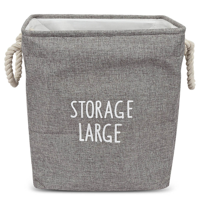 Large Laundry Hamper Bag Canvas Clothes Storage Baskets Home Clothes Barrel Bags Laundry Basket Kids Toy Storage Thickness Bins