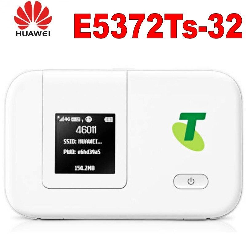 Routeur hotspot wifi mobile d'origine débloqué Huawei E5372ts-32 4G LTE + batterie épaisse 3560 mAh