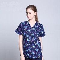 3b7e09b3d4 Nuevo diseño de impresión de algodón médico Scrub Sets Unisex Hospital ropa  de trabajo uniformes de