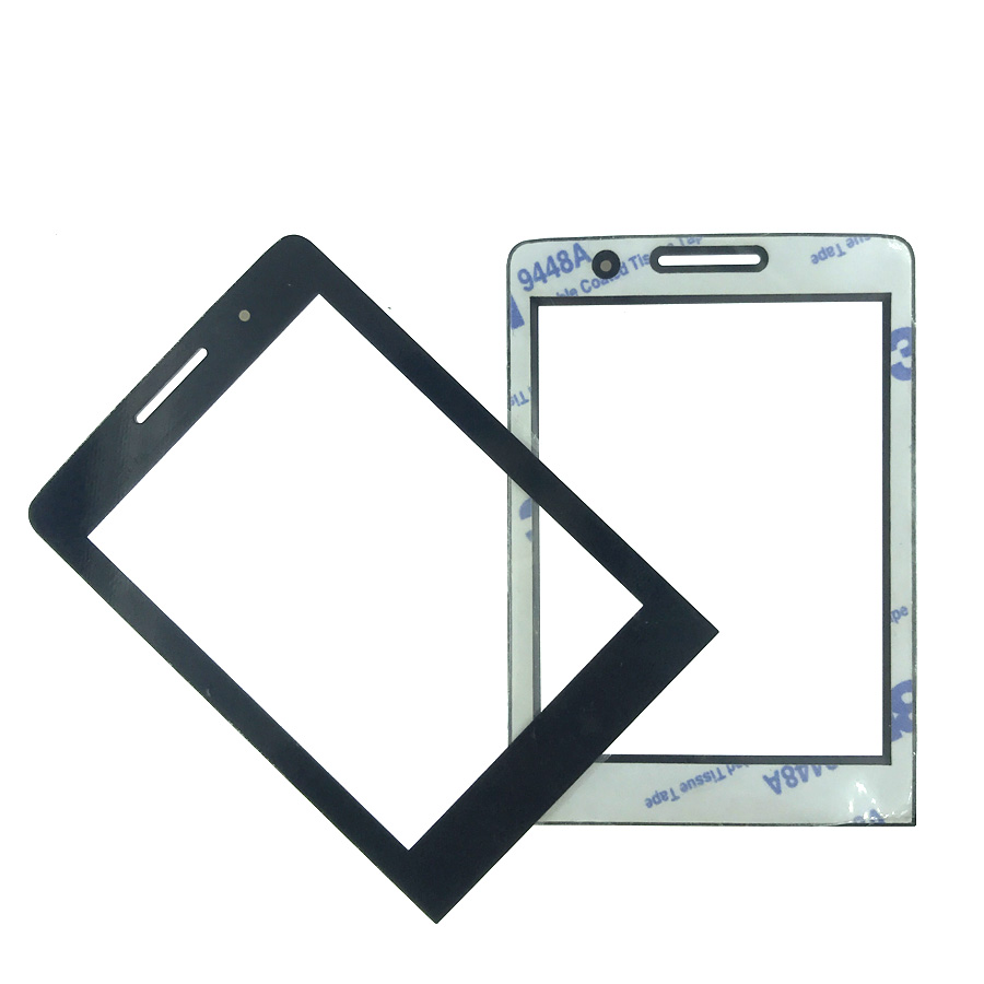 NEW For PHILIPS E570 Front panel lens Not Glass Touch Screen With 3M 9448A double faced Adhesive sticky Tape