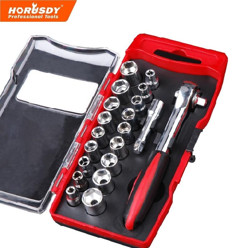 HORUSDY 20/комплект, торцевой ключ Ремонт набор инструментов мини крутящий момент шестигранный ключ инструмент для ремонта Quick Release автомобилей ...