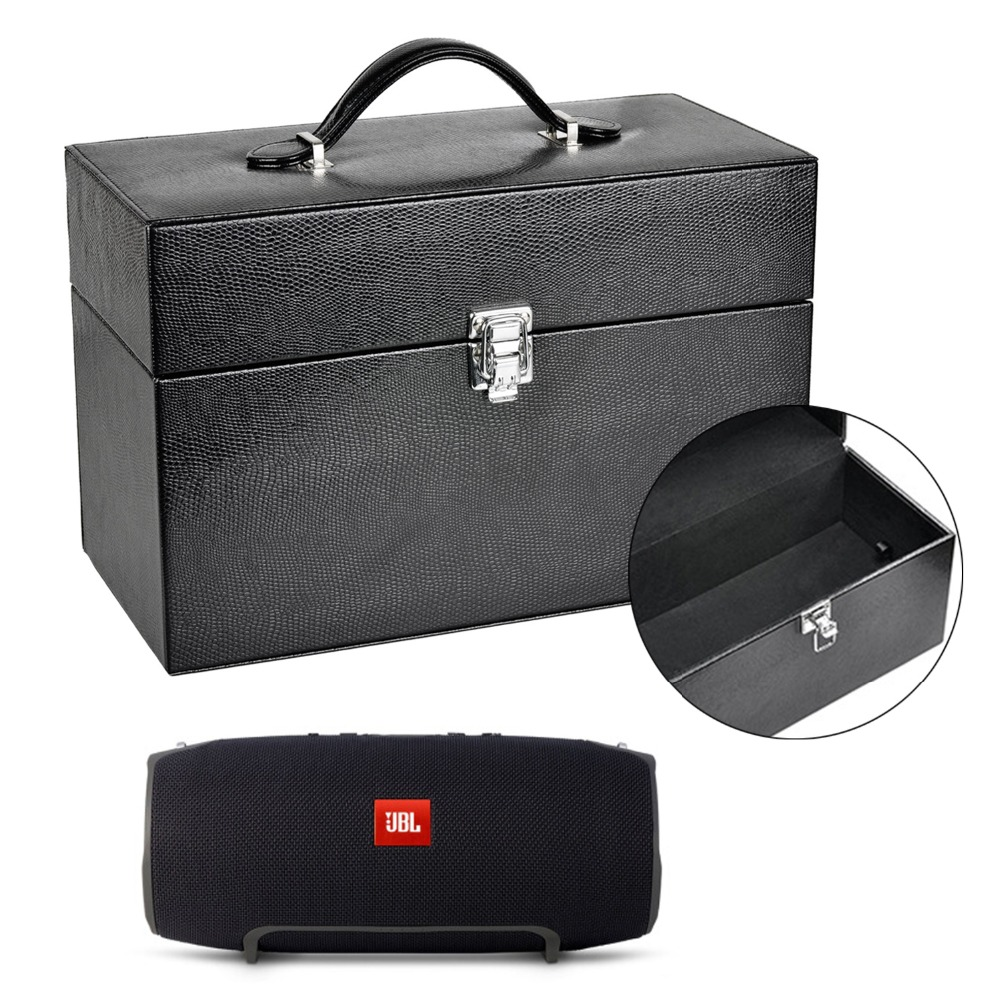 Speaker Pu Leather Carrying Case Storage Box For Jbl Xtreme Portable Black Wireless Bluetooth With Layered Space Charger In Accessories From