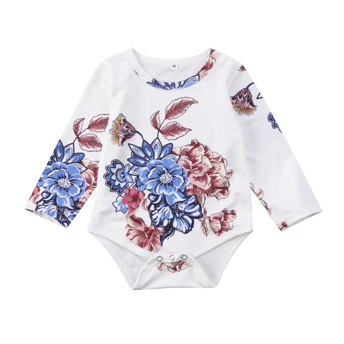 a903fe3bb27f Fashion Ice Cream Lovely Newborn Baby Girls Floral Romper Dress Jumpsuit  Playsuit Summer Outfits