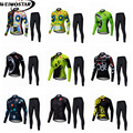 Weimostar Мужская велосипедная Джерси с длинным рукавом + плотные брюки набор для спорта на открытом воздухе дышащая быстросохнущая MTB велосипе...