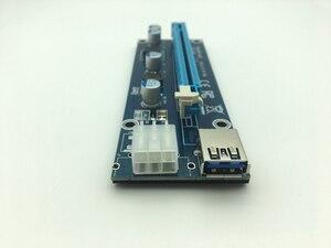 Image 4 - Mini adaptador de tarjeta elevadora SATA, Cable de alimentación de 6 pines para minería de Bitcoin BTC, USB 3,0 de 60cm, PCI E a PCIe PCI Express de 1x a 16x