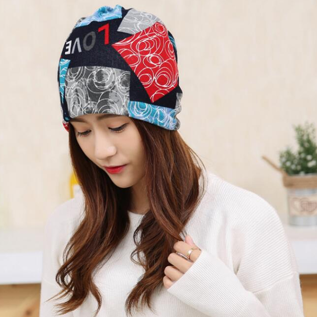 Fashion 2019 New Spring Autumn Women 39 s Hats Lattice Pattern Beanies Knitted Hat Ear Protector Cotton Warm Skullies in Men 39 s Skullies amp Beanies from Apparel Accessories
