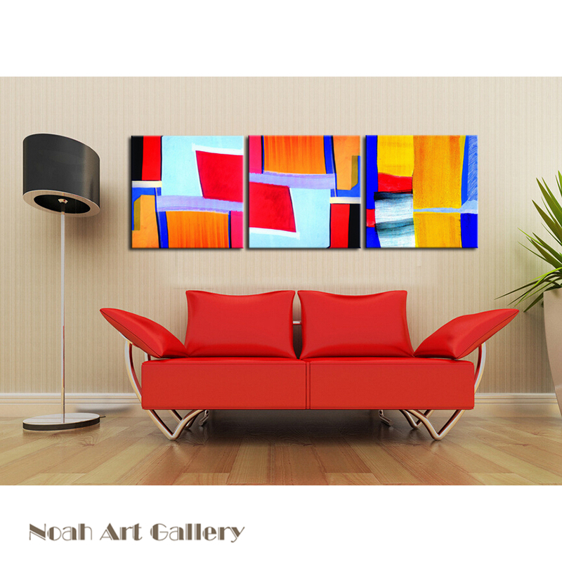 Colored Simple Abstract Geometric Painting Canvas Print High Definition On Waterproof Wall Art Home Decoration UnFramed In Calligraphy