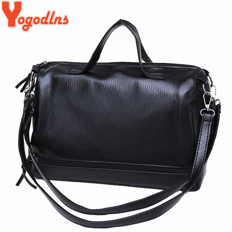 Yogodlns Fashion Motorcycle Shoulder Bags Women Handbag Solid Bolsa Feminina Messenger Bag Ladies Leather Bag Women Shoulder Bag