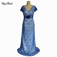 2017 Hot Sale Gorgeous Beaded Lace Mermaid Cap Sleeves Mother of the Bride Dress With Jacket Wedding Guest Outfit Formal Party