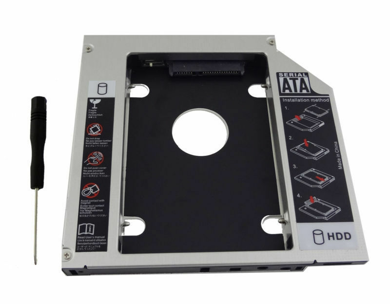 WZSM New 2nd HDD SSD Hard Drive Caddy Adapter frame for <font><b>HP</b></font> <font><b>ProBook</b></font> <font><b>440</b></font> <font><b>G1</b></font> 455 470 G0 <font><b>G1</b></font> G2 Removable Faceplate image