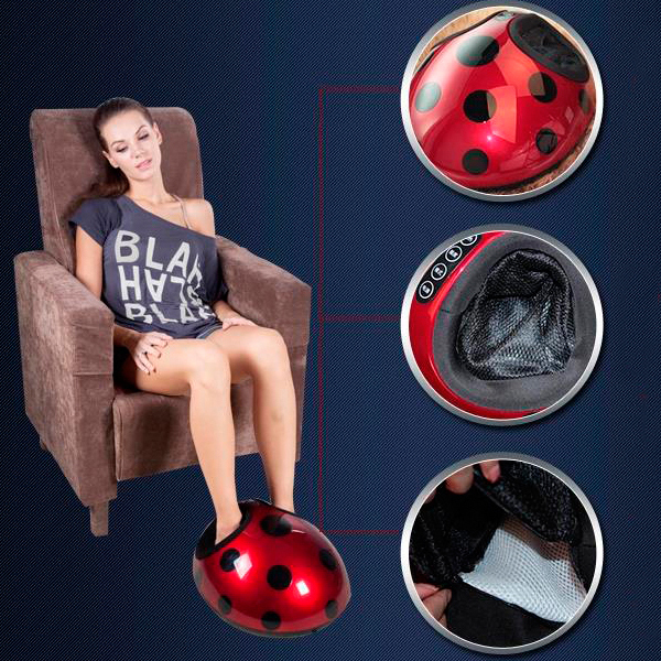 3D Rolling Shiatsu Foot Massager Free Shipping&Drop shipping Support electric antistress therapy rollers shiatsu kneading foot legs arms massager vibrator foot massage machine foot care device hot