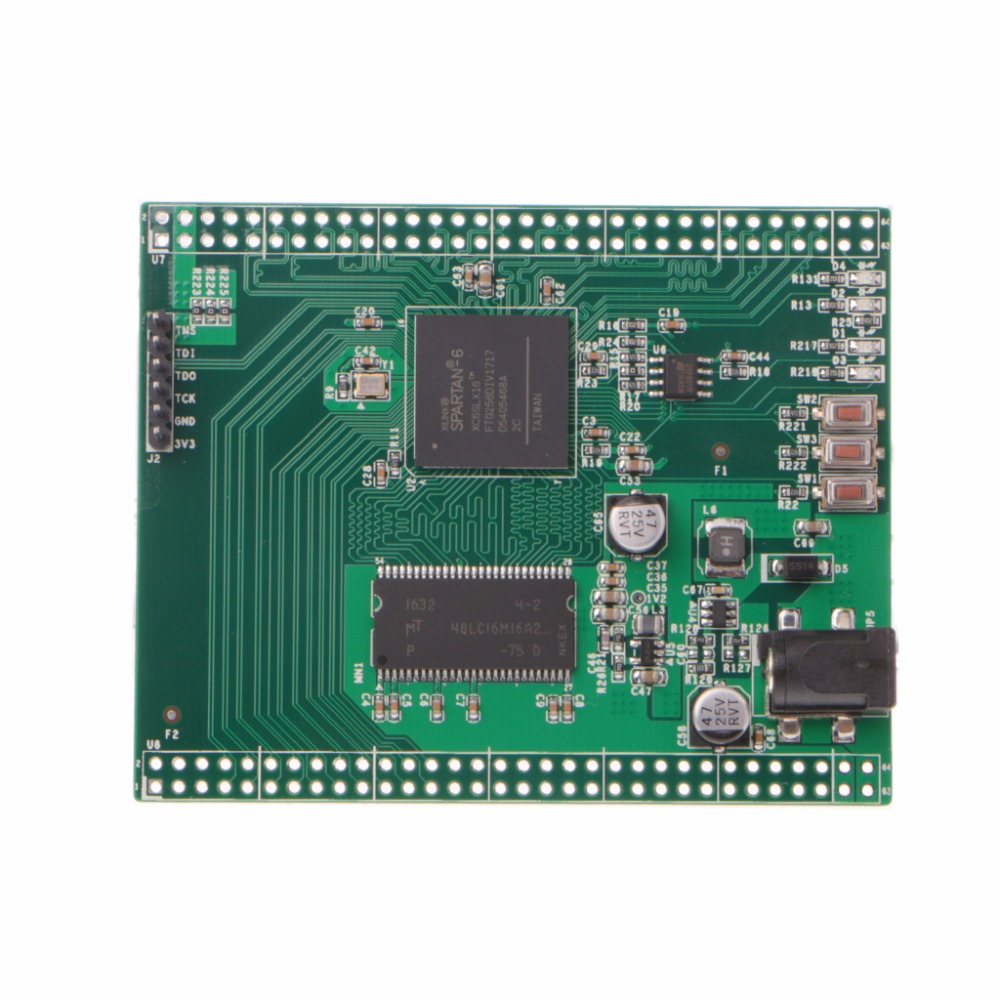 XC6SLX16 Spartan 6 Xilinx FPGA Development Board with 32Mb Micro SDRAM Memory Integrated Circuits ...