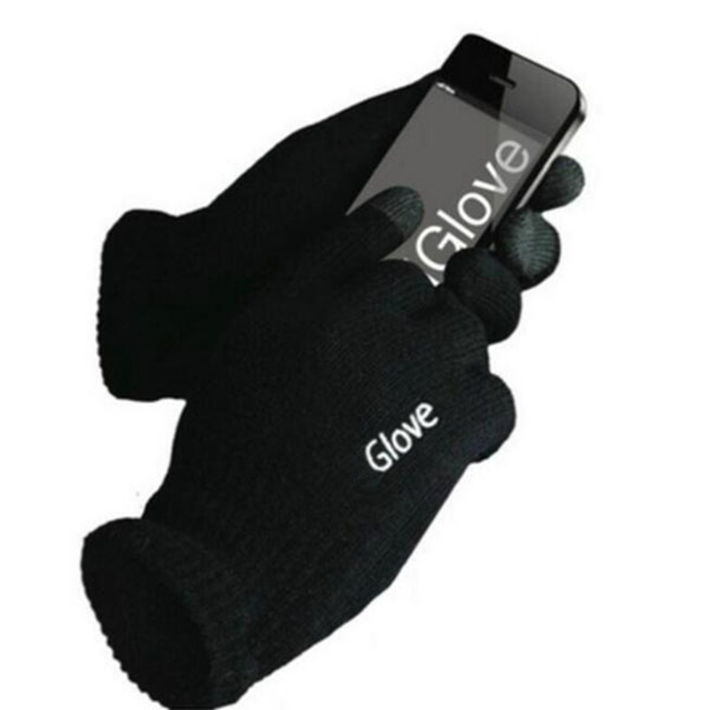 HOT Unisex Cotton Touched Screen Gloves Fashion Warm Adult Solid Colors Mittens Man Women Winter Windproof Wrist Gloves
