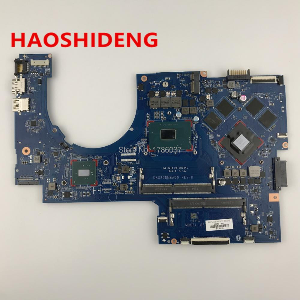 915550-601 DAG37DMBAD0 G37D for HP PAVILION 17-AB 17-W series motherboard with 1050Ti 4GB i7-7700H.All functions fully Tested !!