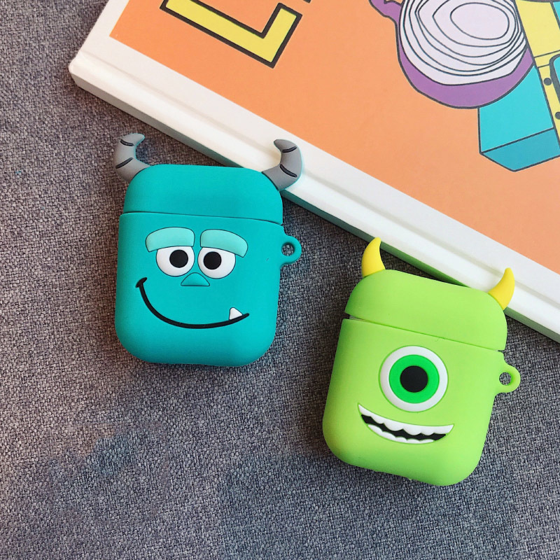 Image 4 - VOZRO Cartoon Wireless Bluetooth Earphone Case For Apple AirPods Silicone Charging Headphones Cases For Airpods Protective Cover-in Earphone Accessories from Consumer Electronics