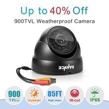 SANNCE 900TVL 3.6 مللي متر التناظرية كاميرا بشكل قبة للرؤية الليلية داخلي في الهواء الطلق مانعة لتسرب الماء IP66 IR تصفية CCTV نظام الأمن كاميرا
