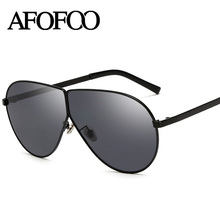 AFOFOO New Fashion Sunglasses Metal Frame Women Glasses Luxury Brand Designer Ladies Mirror Sun glasses Men UV400 Shades Eyewear