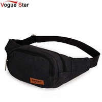 Vogue Star Hot Selling Multifunctional Casual Canvas Waist Pack Outdoor Sports Organizer Bag For Men Waist