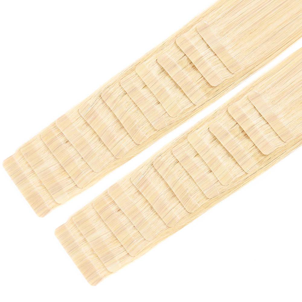 Doreen Machine Made Remy wodoodporna taśma w doczepy z ludzkich włosów 20 sztuk 50 g/paczka Silky prosto PU treski skóry wątek
