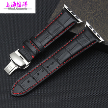38 42mm high quality imported leather Watch strap with fashionable buckle