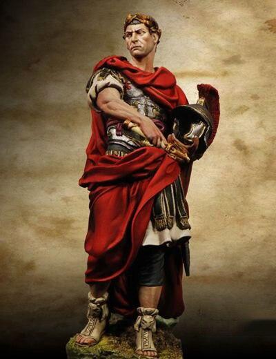 Unpainted Kit 1/24 75mm Ancient Julius Caesar   75mm   Figure Historical  Figure Resin  Kit