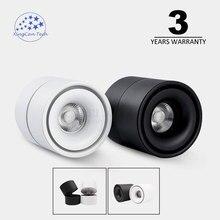 COB downlight Surface Mounted Black Body Lamp AC85-265V Spot Light 7w 10w 12w Rotatable Ceiling Lamp LED Spot Light