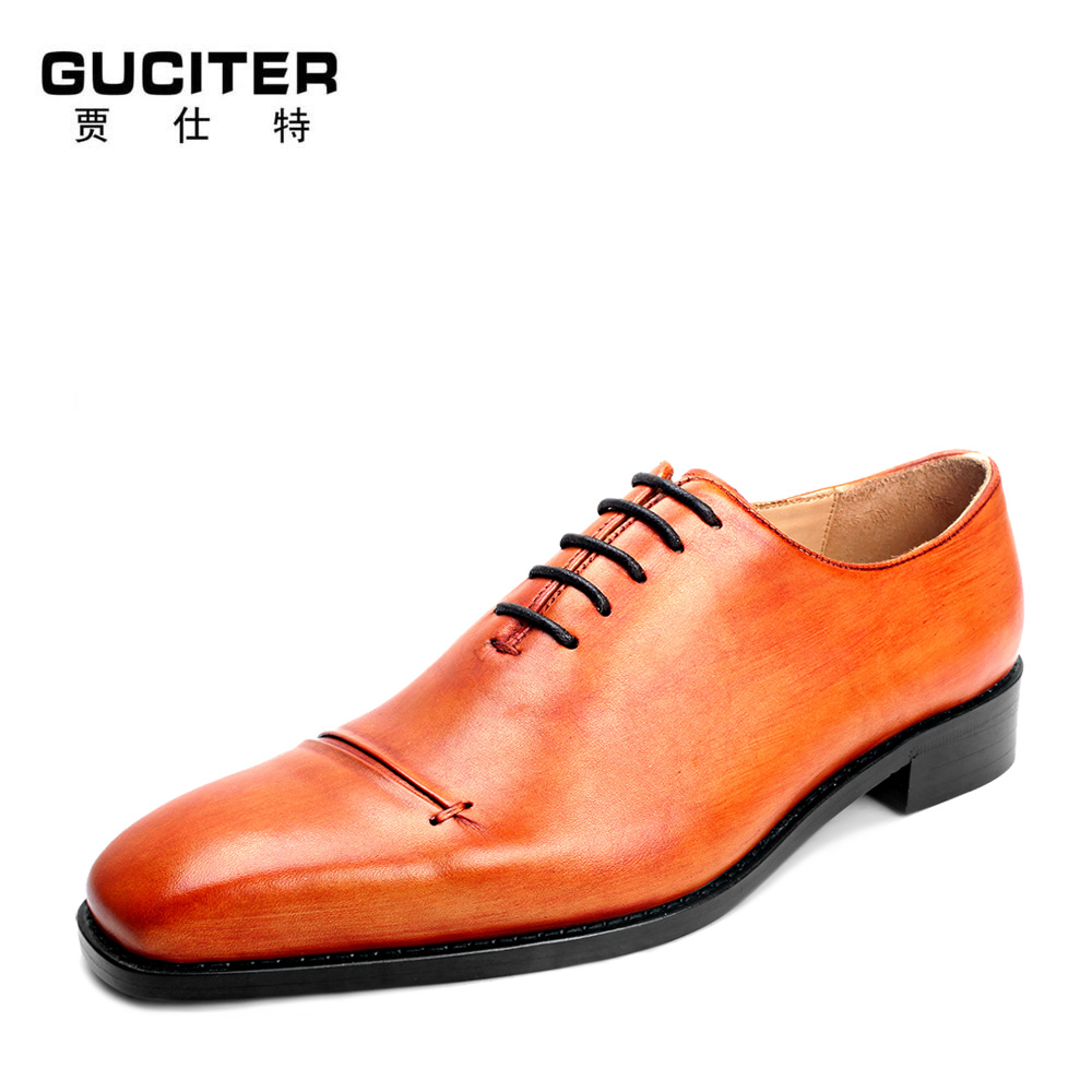 Free Shipping Goodyear manual senior men's leather shoes custom made men's shoes size code to do business dress shoes coil senior classic counter down free shipping