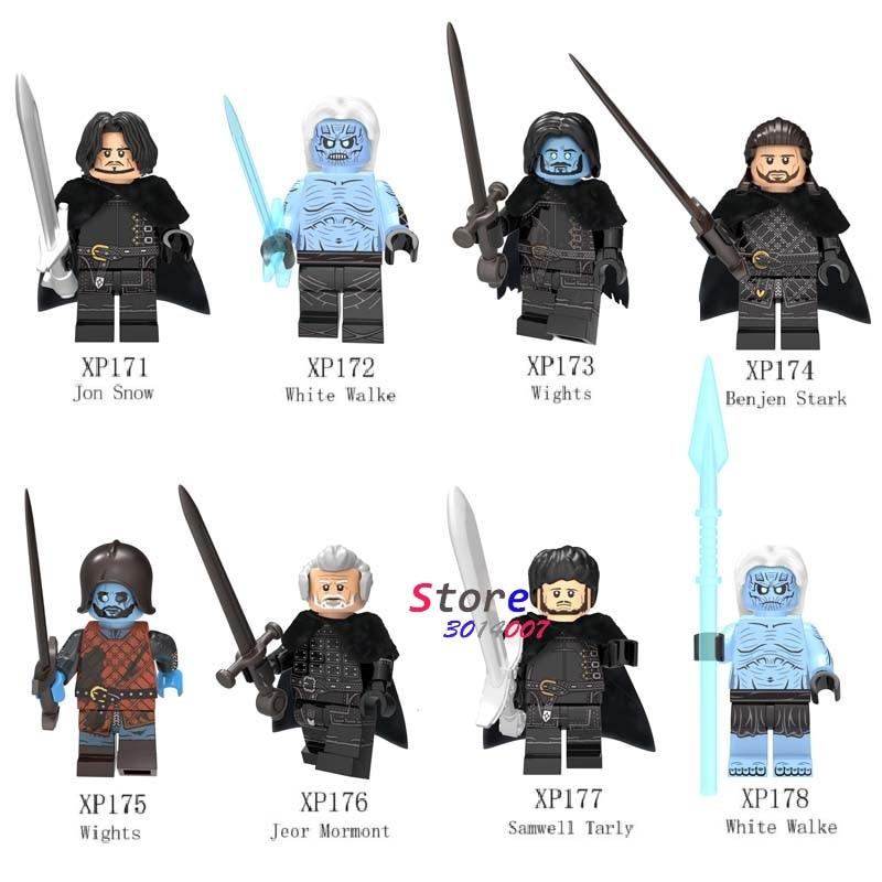 50pcs Game of Thrones Ice and FireJon Snow k White Walke Jeor Mormont Samwell Medieval Knight