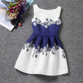 3-7Y New Arrival Princess Dress Girls Clothes Baby Girls European Print Sleeveless O-neck Dress
