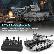 952PCS Remote Control RC Tank Wars Military Model Building Blocks Bricks Toy Remote Control Tank RC Toy For Kids Gift(China)