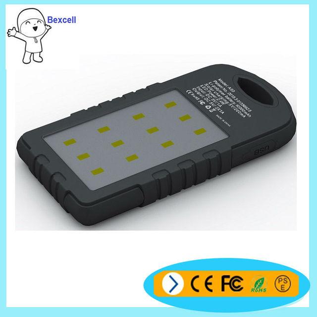 El precio de fábrica portátil solar 8000 mAh banco de la energía externa móvil de la batería