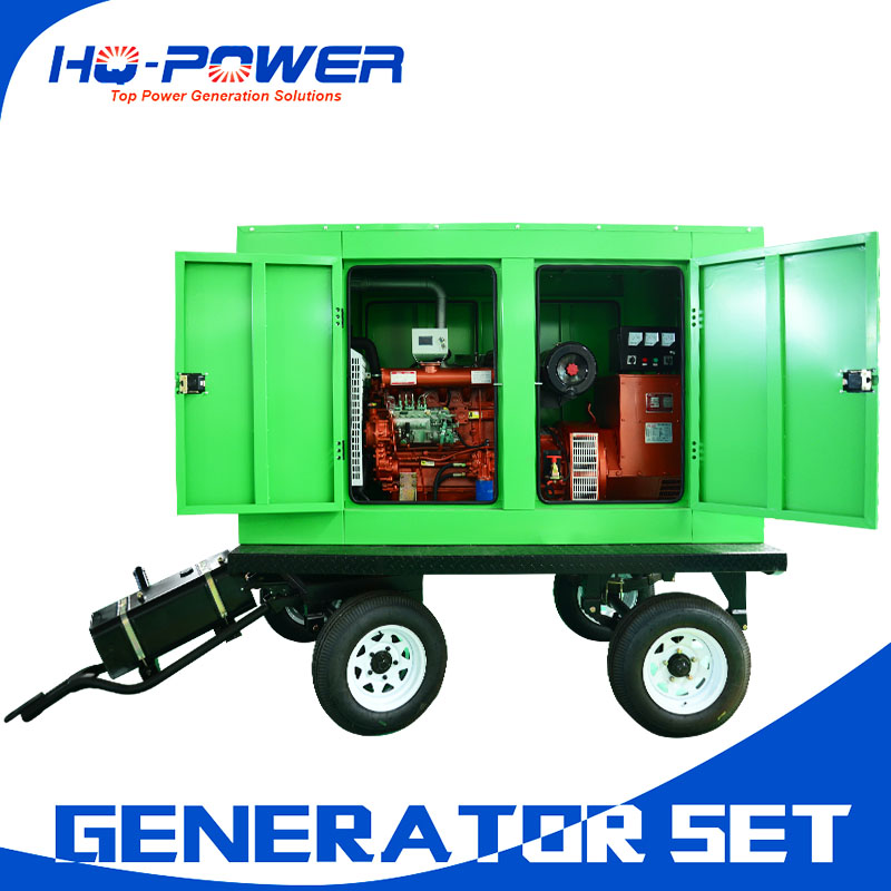 china cheap 75kw diesel engine mobile generator with canopy prices
