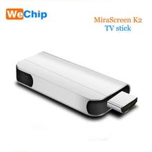 K2 ТВ stick Беспроводной Wi-Fi Дисплей ключ Miracast Dlna suppost 1080 HD для Android IOS смартфон Tablet PC pk адресации любому устройству группы M2 плюс