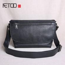 AETOO Original leather mens shoulder bag 2019 new tide Messenger casual student messenger