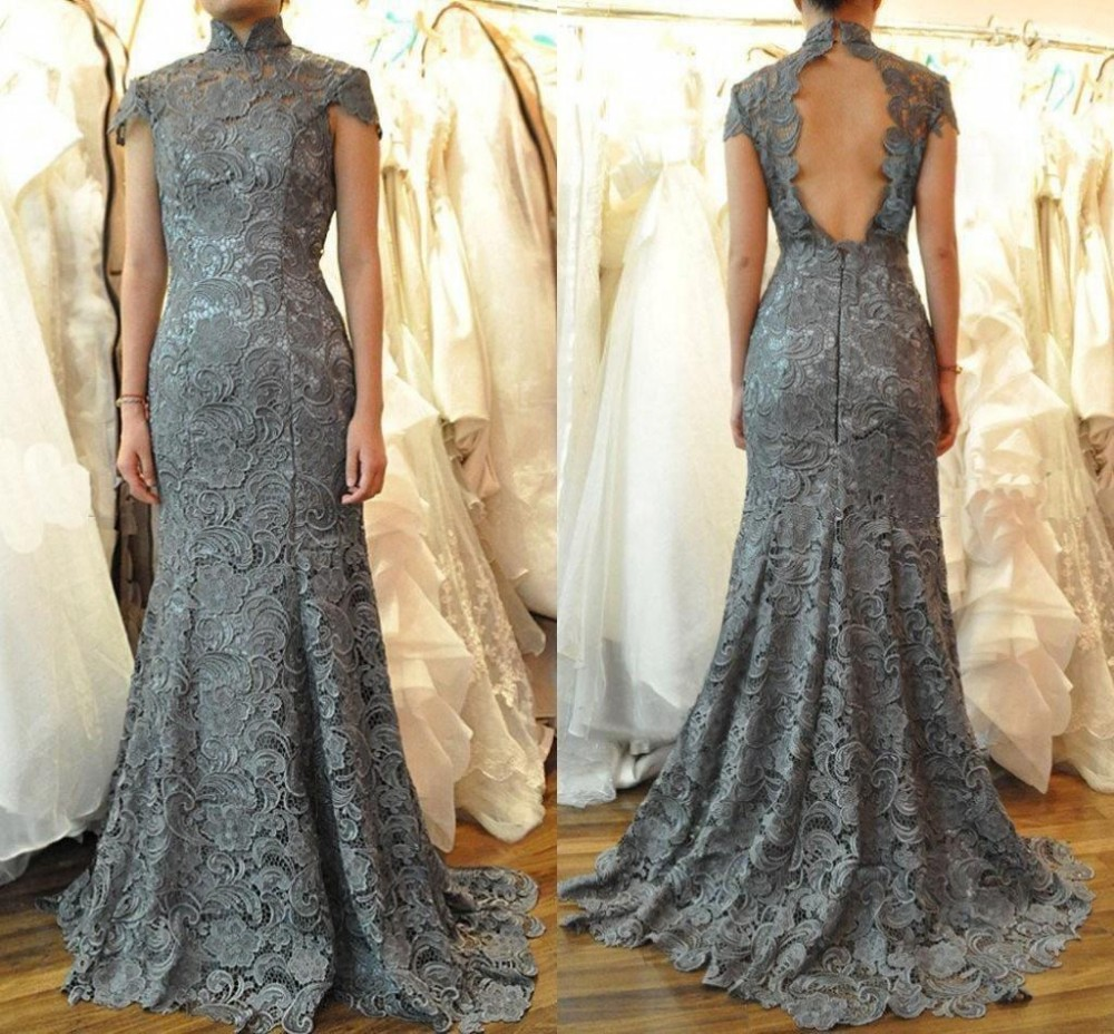 Online Get Cheap Grey Lace Mermaid Prom Dress -Aliexpress.com ...