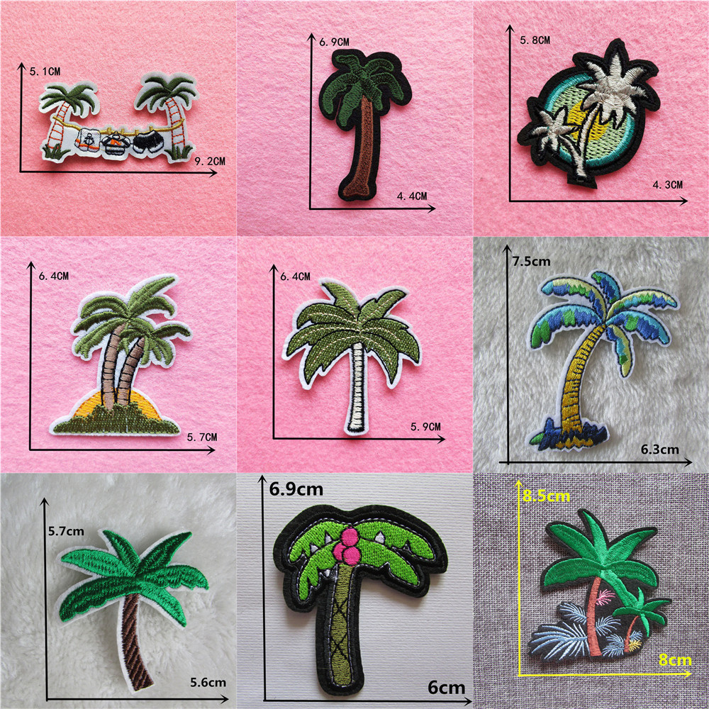 Palm Tree Iron on Applique Patch