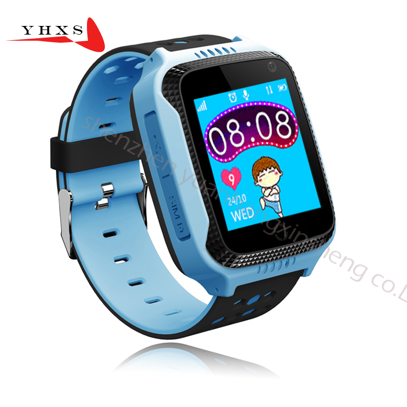 Touch Screen Smart GPS LBS Tracker Location SOS Call Remote Monitor Camera Flashlight Watch Wristwatch for Kids Child Pk Q90