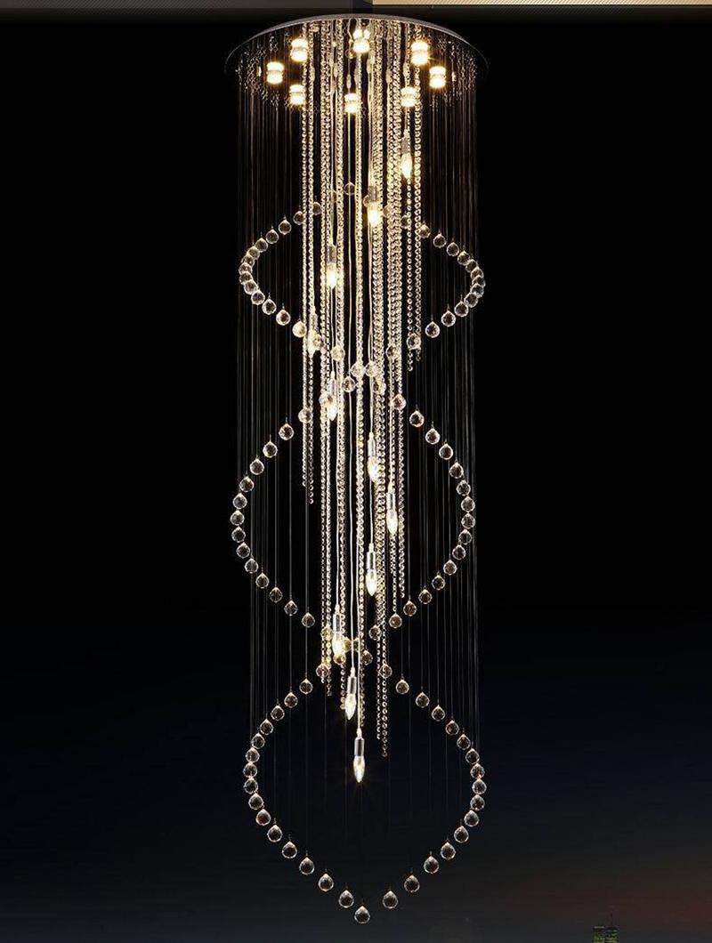 d x hcm modern luxury large espiral de cristal colgante accesorio de iluminacin de saln comedor