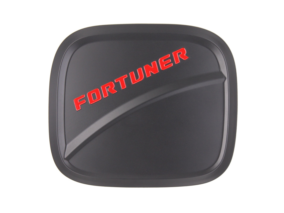 For Fortuner 2017 Accessories Exterior Fuel Tank Cover Matte Black ABS Plastic Gas Cover Auto Accessory 41