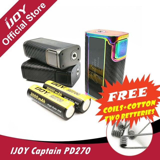 Оригинал IJOY капитан PD270 поле mod 234 Вт OLED Экран поле mod электронная сигарета вейпер Мощность по двойной 20700 Аккумуляторы