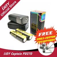 Original IJOY Captain PD270 Box MOD 234W OLED Screen Box Mod Electronic Cigarette Vaper Power By
